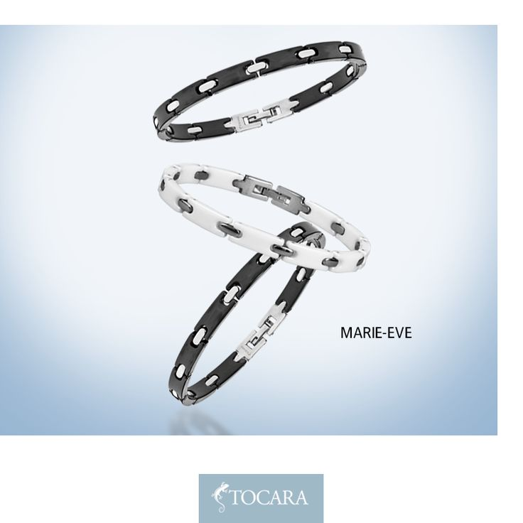 They say opposites attract...  What's your favourite? Black or white? Both perhaps? Marie-Eve Bracelet - White ($79.00) | Stainless Steel - Ceramic
