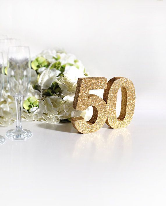 50th birthday anniversary gold glitter by SimplySpecialBoutiq