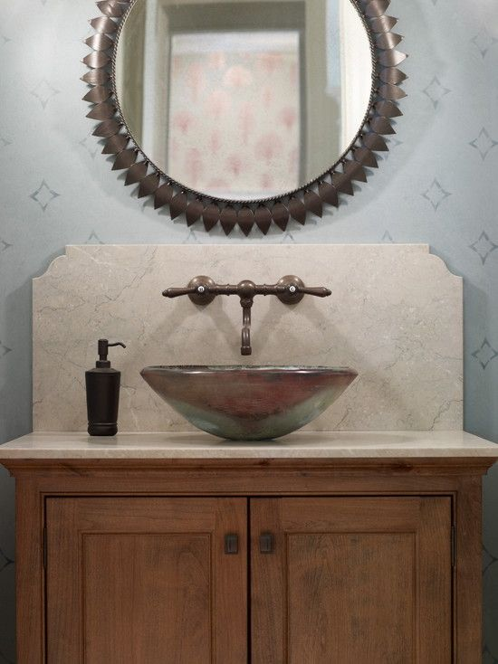 Best Odpowder Images On Pinterest Powder Bathroom Faucets - Backsplash for bathroom sink for bathroom decor ideas
