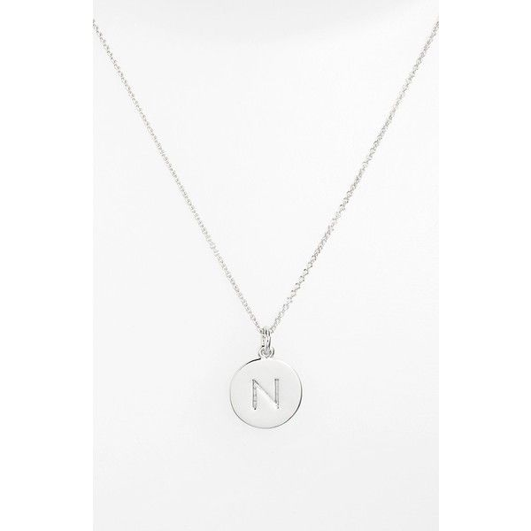kate spade new york 'one in a million' initial pendant necklace ($58) ❤ liked on Polyvore featuring jewelry, necklaces, silver n, letter pendant, letter pendant necklace, initial necklace pendant, initial pendant and pendant jewelry