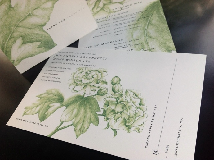 these wedding invites can be as unique as the bride.  many details of this design are not your traditional invitation!
