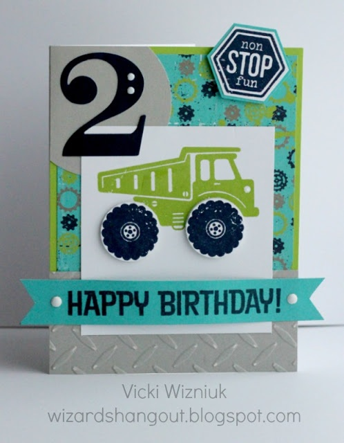 Fast and Furious stamp set birthday card