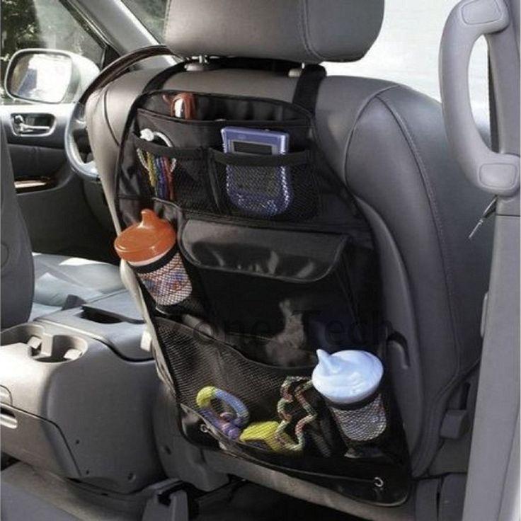 Asiento de coche de bebé volver almacenamiento de bolsillo del asiento trasero del bolso del organizador