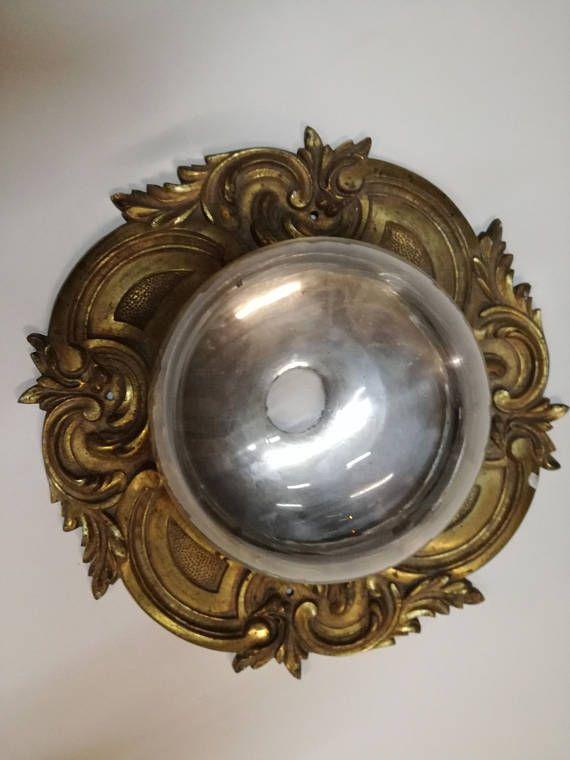 Plafoniera vintage in ottone-lampadario-applique-illuminazione