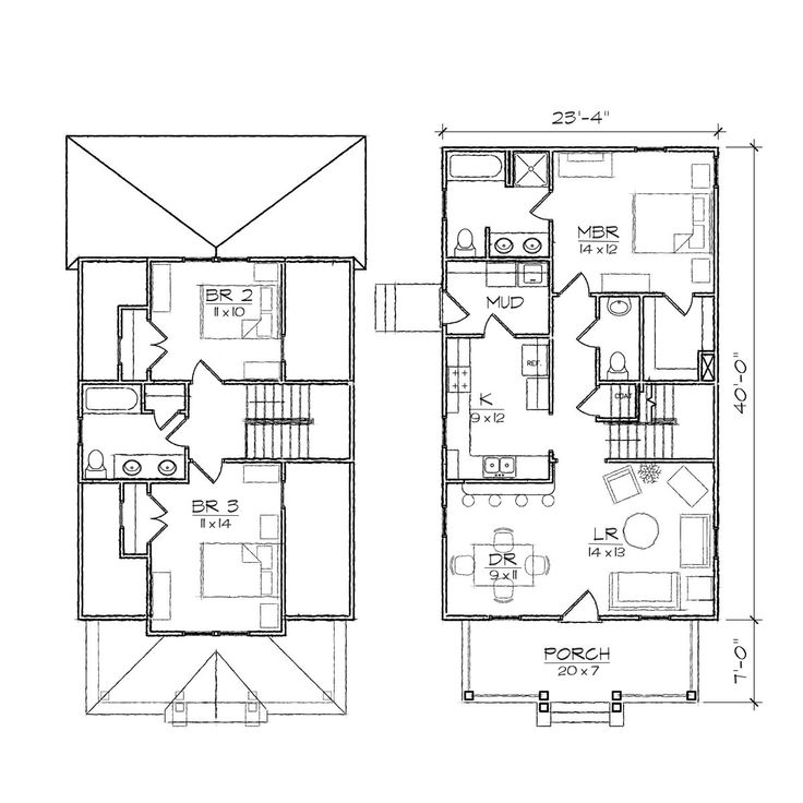 Ashleigh II Bungalow Floor Plan | TightLines Designs