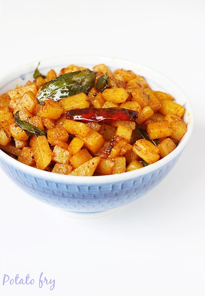 potato fry made in Indian style with simple and basic ingredients. Learn how to make potato fry or aloo fry with step by step pictures