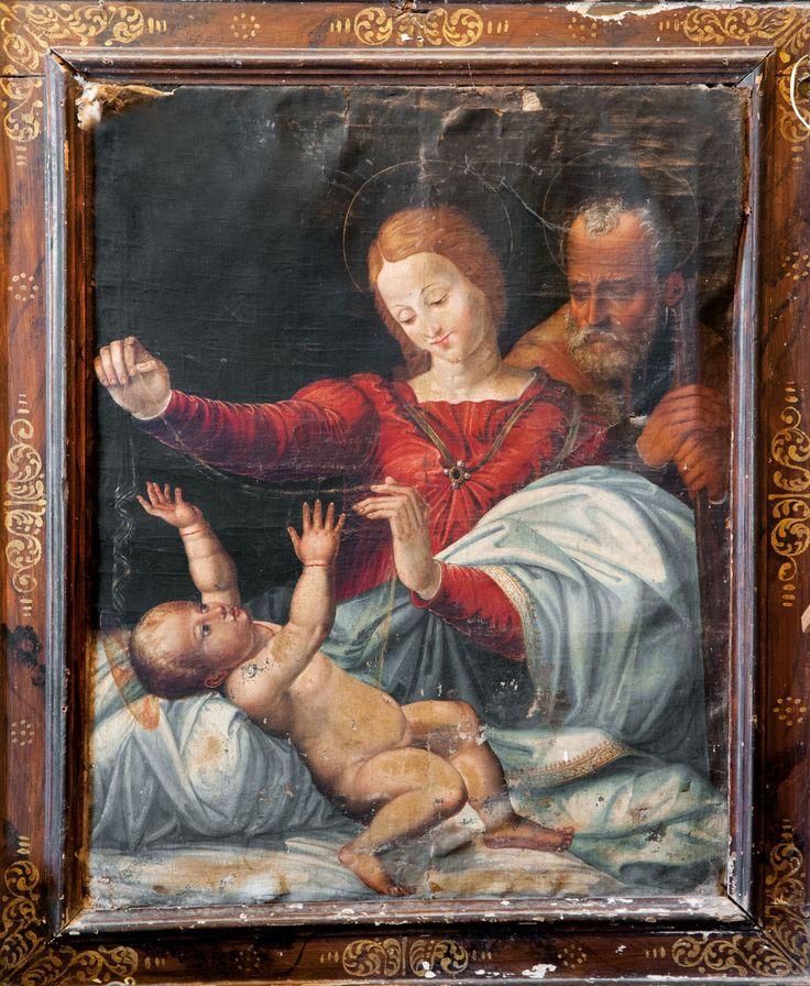 Da Raffaello sec. XVI, Sacra Famiglia, Monteleone di Spoleto, Chiesa di S. Francesco
