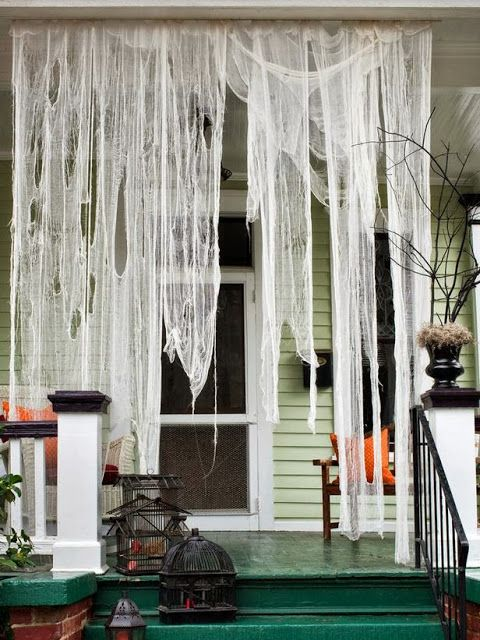 halloween curtains outdoor | Nine Cheap and Simple Projects for Getting you House Halloween Ready