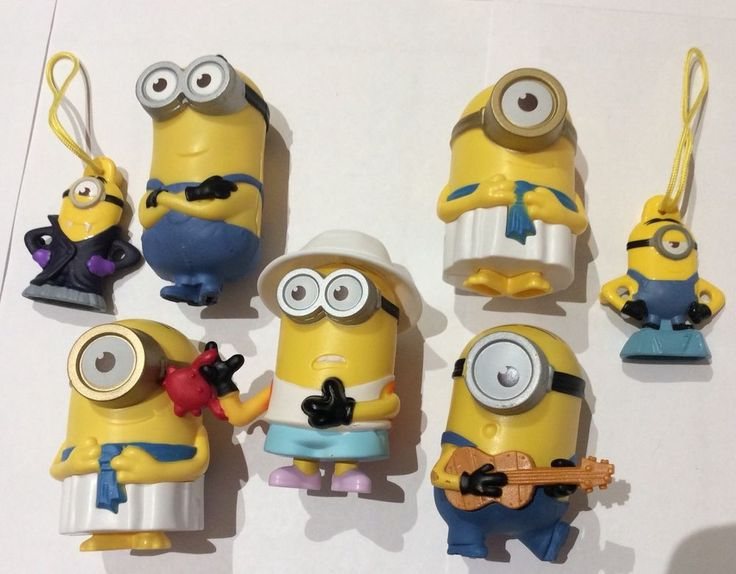 McDonalds Happy Meal & General Mills Despicable Me Minions Lot of 7 2015 2017  | eBay