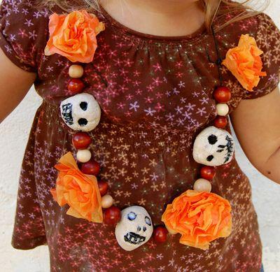 DIY: Dia de Los Muertos necklace.