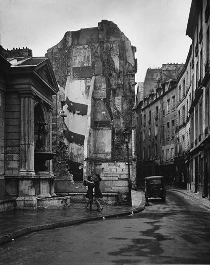 Robert Doisneau - Girls dancing in the streets of Paris.  Two studies, probably 1950's