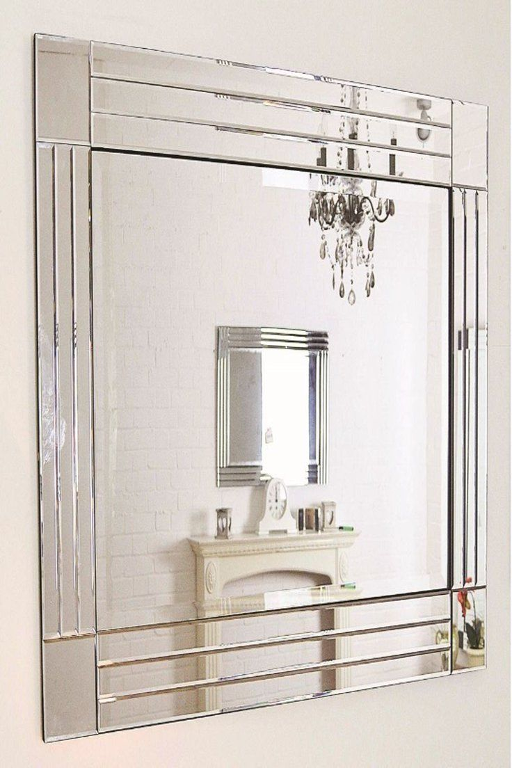 49 99 Gbp Large Triple Bevelled Mirror Wall Mounted With Square Corners Large Triple Bevelled Mirror Wa Venetian Wall Mirror Mirror Decor Mirror Wall
