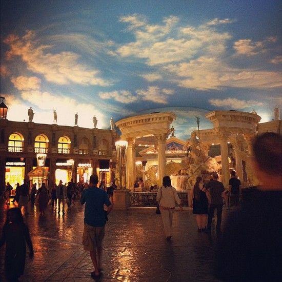L'incroyable faux ciel de la Galerie du Caesar Palace - Las Vegas