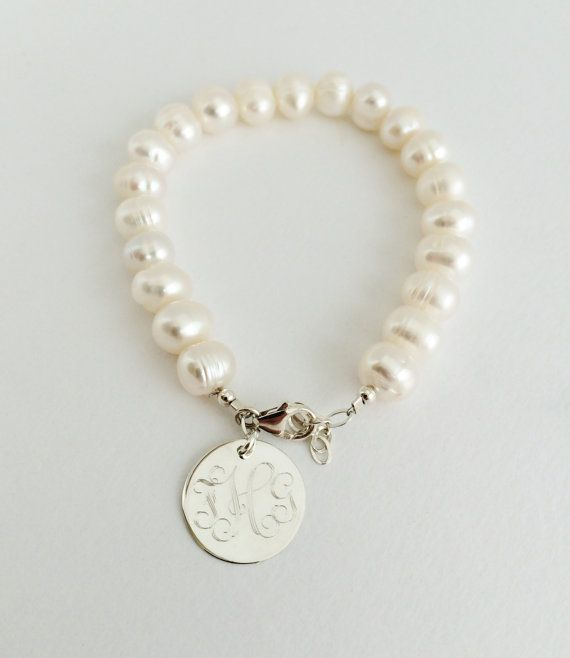 Hey, I found this really awesome Etsy listing at https://www.etsy.com/listing/194385960/monogram-freshwater-pearl-bracelet-with