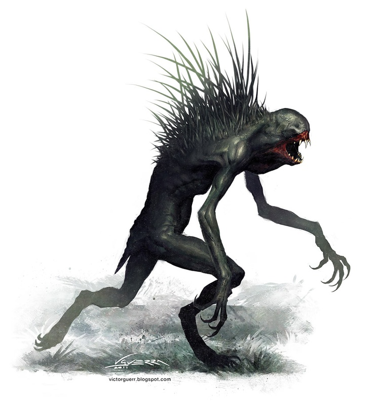 Hasharu, criatura para La Puerta de Ishtar, Víctor Guerra