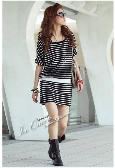 Stripes-Perfect-Casual-Dress