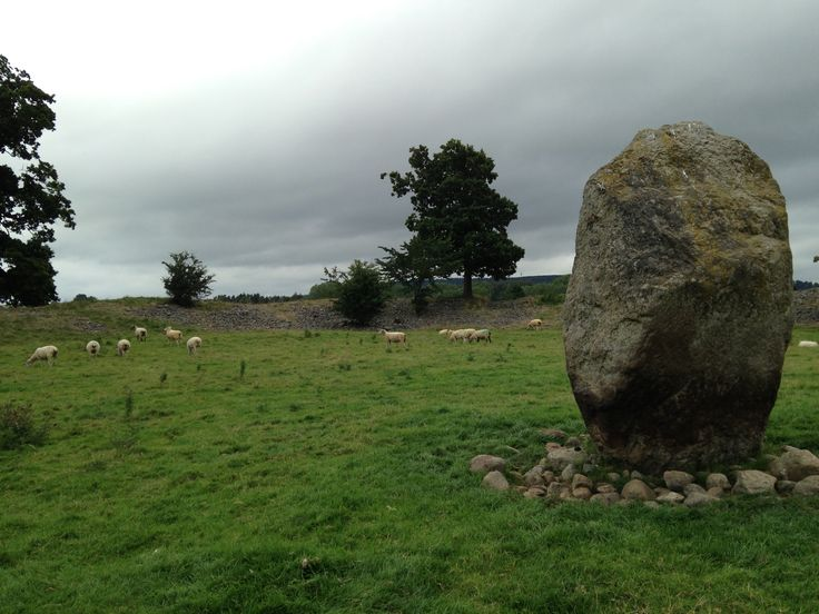Standing stone at Mayburgh Henge, near Penrith, England, which Adrian passes as he begins his journey.
