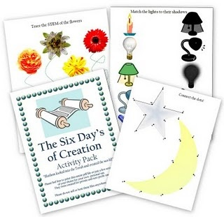 6 Days of Creation- Toddler/Preschool Activity Pack