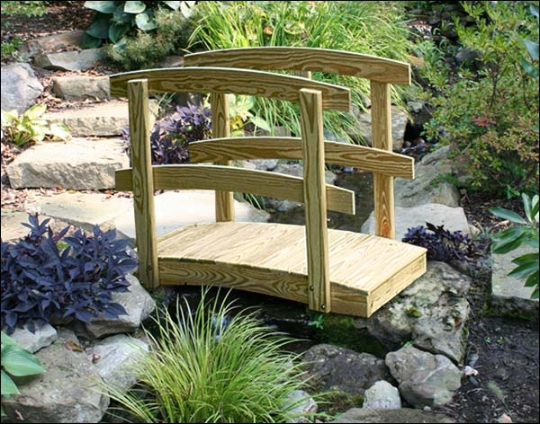 x treated pine japanese garden foot bridge with stain