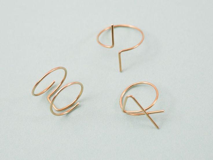 Tutorial fai da te: Come fare un anello geometrico con il filo metallico via DaWanda.com