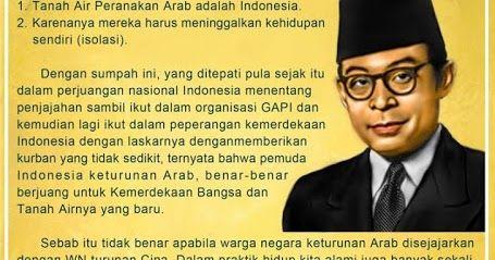 Bung Hatta: Orang Cina di Indonesia Tidak Bisa Disejajarkan Dengan Arab-Indonesia, INI SEBAB nya