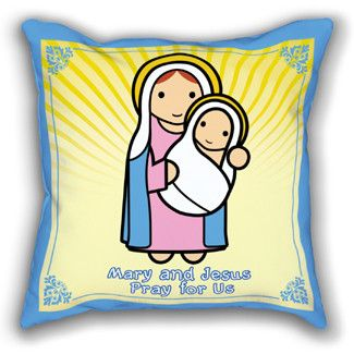 Mary and Baby Jesus Pillowcase $ 23