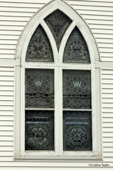 Church Window In Eastport ME