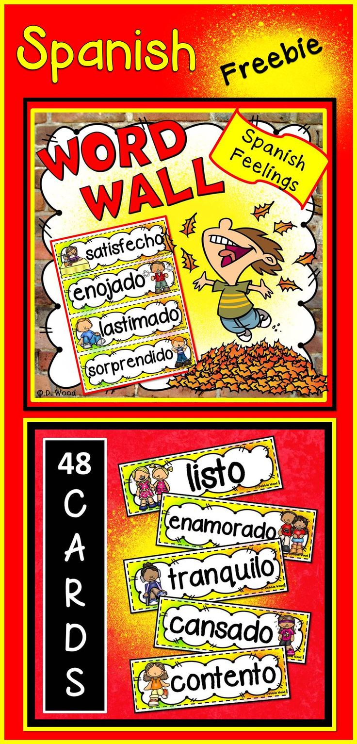 21 best Spanish Word Wall images on Pinterest | Spanish word wall ...