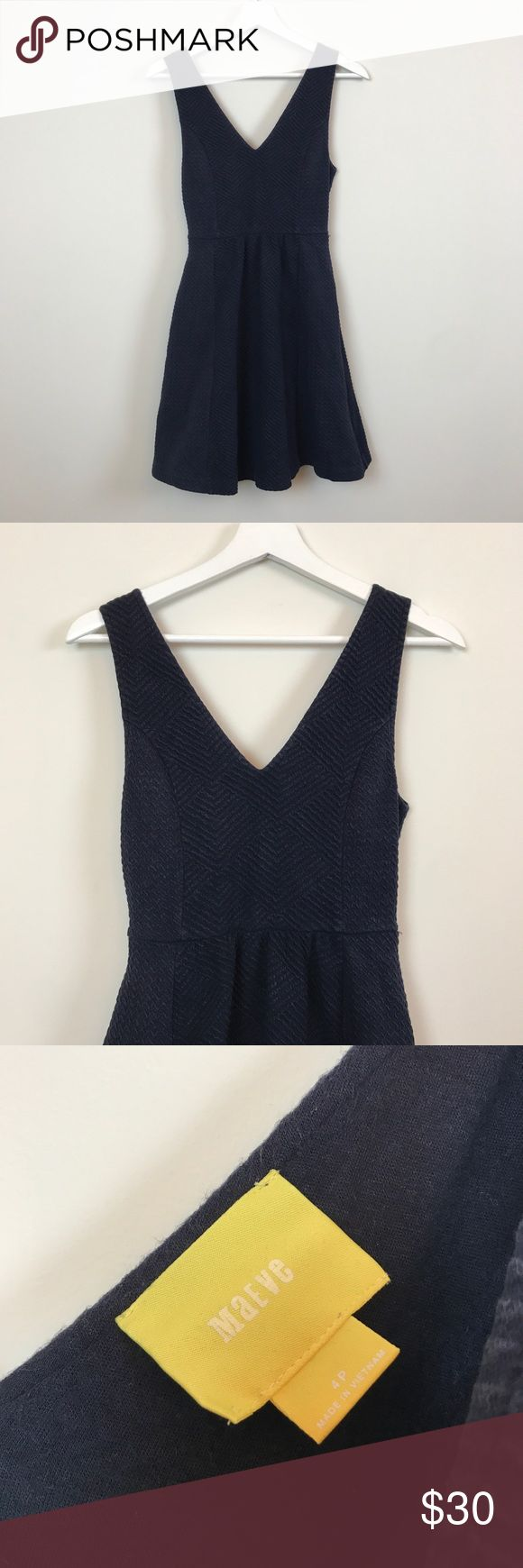 Anthropologie Maeve Navy Petite Dress Anthropologie Maeve Navy Dress. Size 4 petite. Has a slightly faded look but that's how I purchased. Super comfortable. Bust is 14 across, waist is 12.5 across, and length is 32.5. Open to offers and 30% off bundles! *F5 Anthropologie Dresses