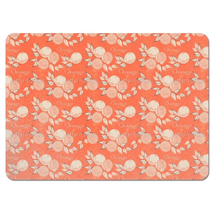 Uneekee Southern Oranges Placemats (Set of 4) (Southern Oranges Placemat), Orange (Polyester)