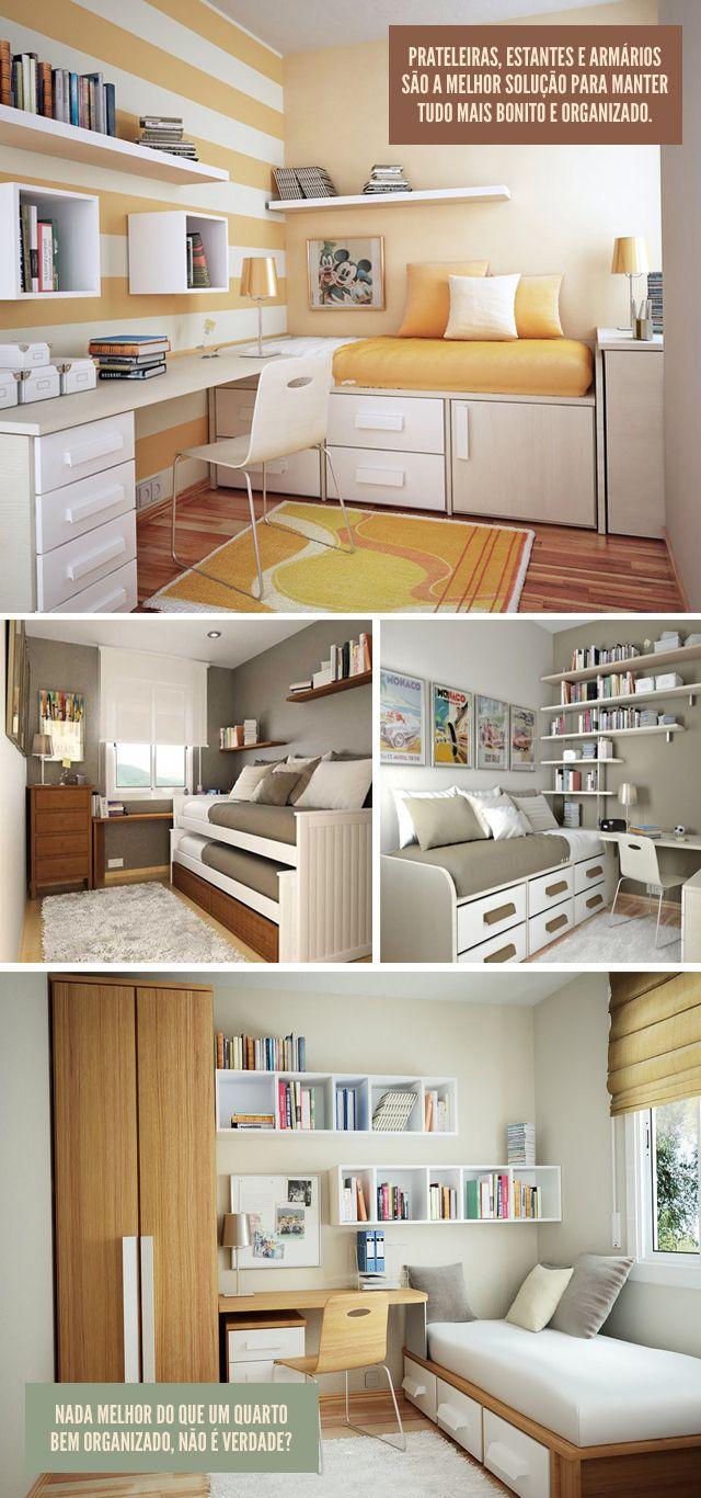 Decoração: Ampliando quartos pequenos