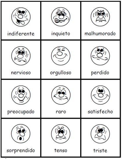 Los sentimientos ; PrintableSpanish.com
