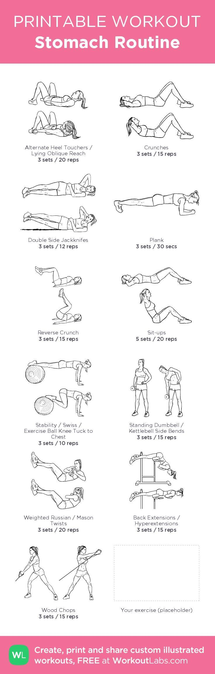 nice Stomach Routine