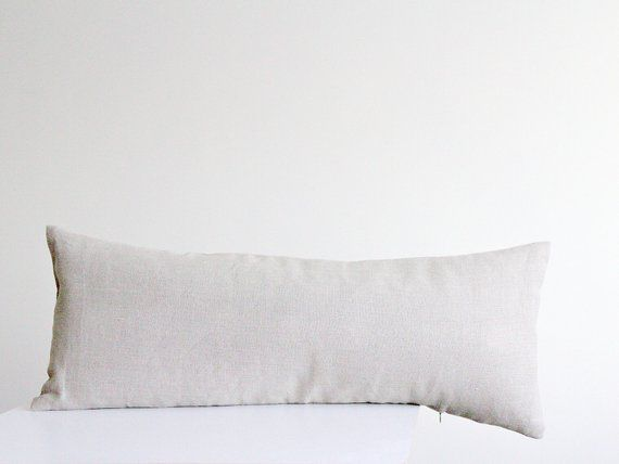 Extra Long Body Pillow Case Custom Linen Cover For Lumbar Oblong Pillow By Linenspace Body Pillow Oblong Pillow Pillow Case Crafts