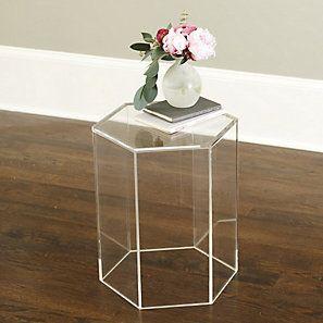 Acrylic Hexagon Side Table