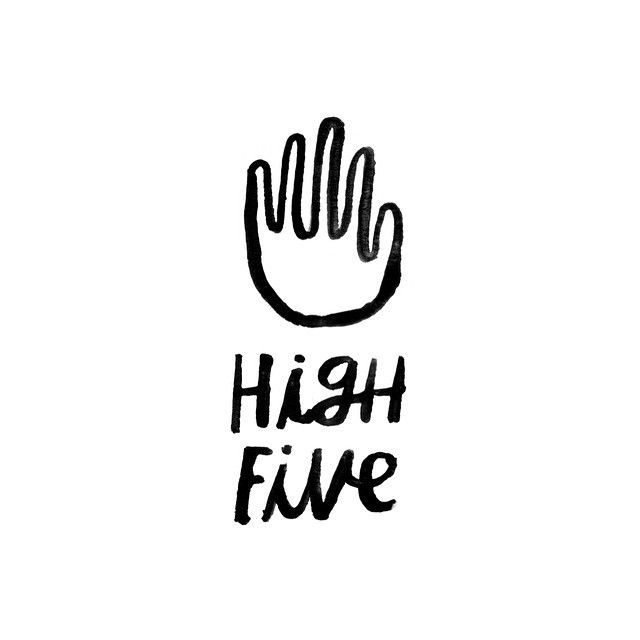 High Five lettering. Sometimes its the little things that grab your attention.
