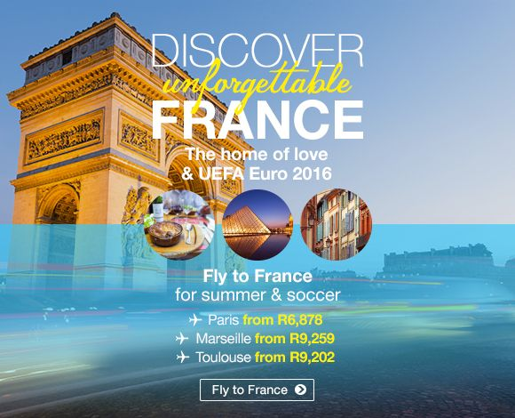 Discover Unforgettable France  The current home of summer and soccer with this years Euro 2016. France has plenty to offer   Book now>> http://www.travelstart.co.za/lp/europe/france  #travelstart #france #europe #euro2016
