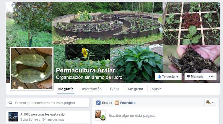 La pagina Facebook de Permacultura Aralar alcanzó los 1000 Me gusta en Abril 2016