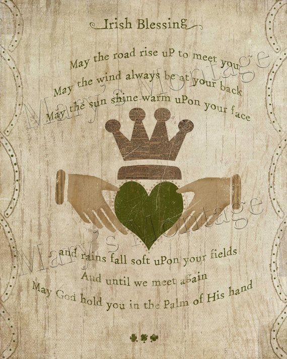 Irish Blessing, printable art, 8x10, download, St. Patricks Day