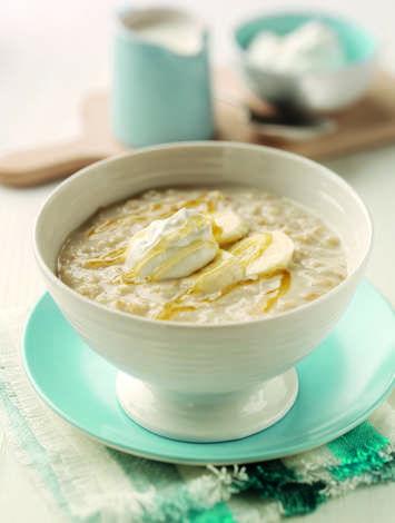 Honey & Yogurt Porridge with Banana