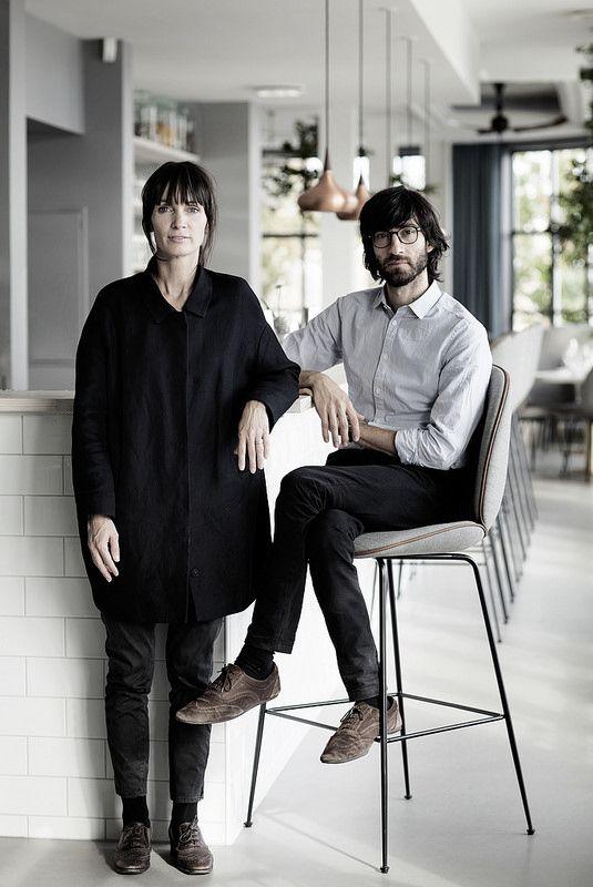 Gubi // GamFratesi, the designer-duo behind the Beetle Chair and Beetle Stool shown at The Standard, Copenhagen.