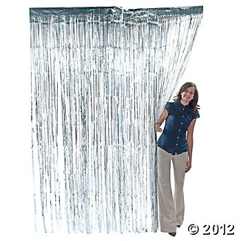 Silver Fringe Curtain: