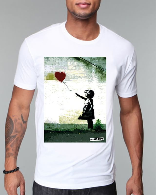 https://www.navdari.com/products-m00031-BANKSYTHEREISALWAYSHOPESTREETARTTSHIRT.html #banksy #thereishope #hopealways #hope #streetart #art