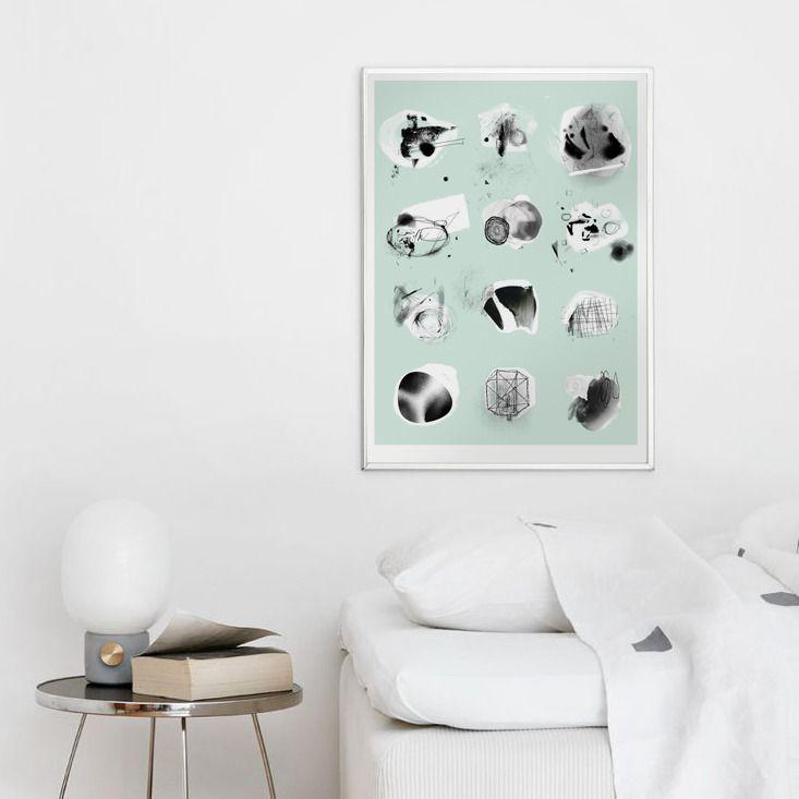 Autorska grafika Forms XXI, mięta - Printlove - grafiki do wnętrz, ilustracje dla dzieci, plakaty. -