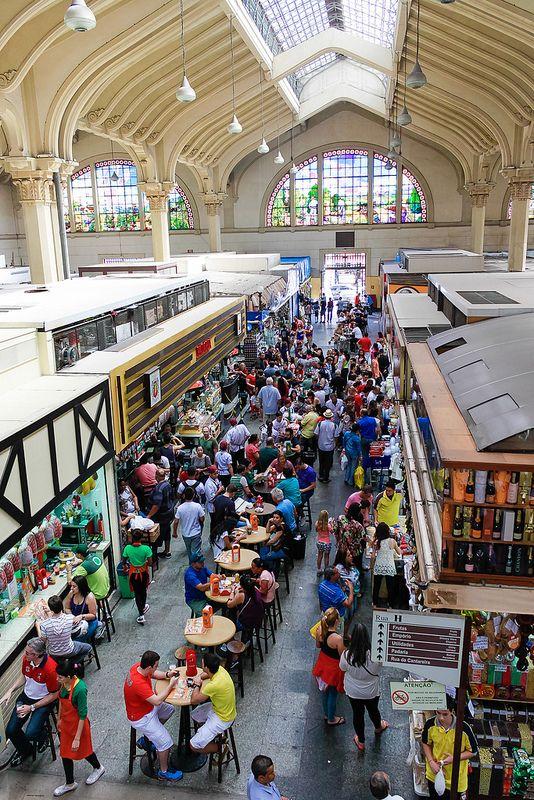 Mercado Municipal de São Paulo, no estado de Sao Paulo, Brasil.