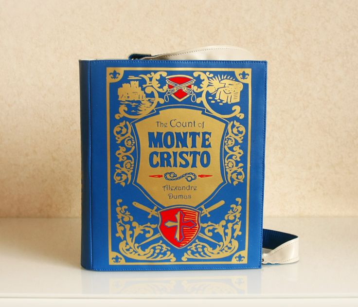 Book Bag The Count of Monte Cristo Leather Book Purse by krukrustudio on Etsy