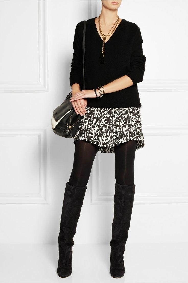 Isabel Marant Myrtle printed silk-chiffon mini skirt NET-A-PORTER.COM