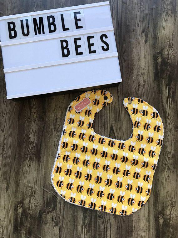 Handmade Bumble Bee Bib