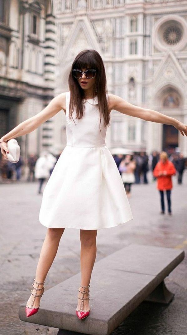 ▷ Weißes Kleid - super frisch und lässt sich leicht kombinieren