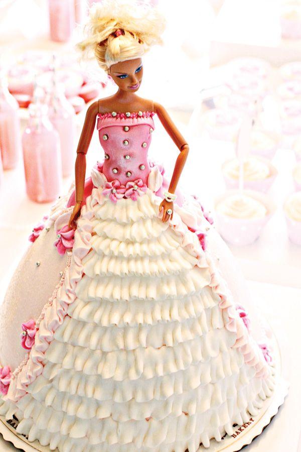 Cute Ballerina Inspired Birthday Party. http://www.helenbernhardbakery.com/barbie-cakes/